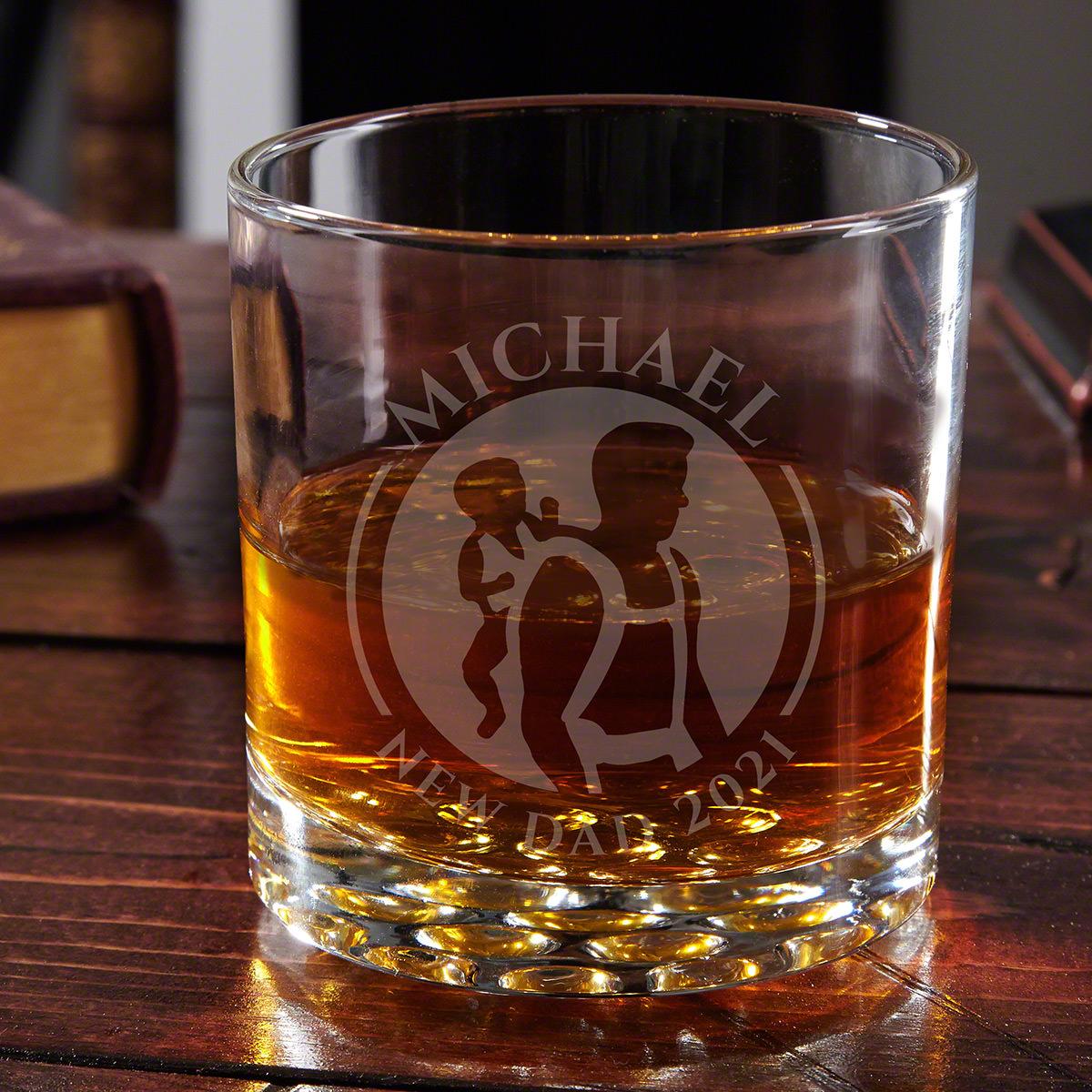Dad Life Custom Buckman Whiskey Glass Gift for New Dad