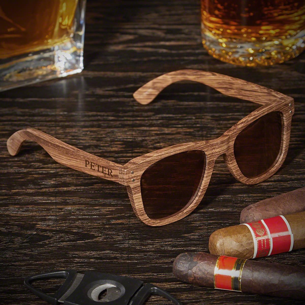 Genuine Bamboo Custom Sunglasses