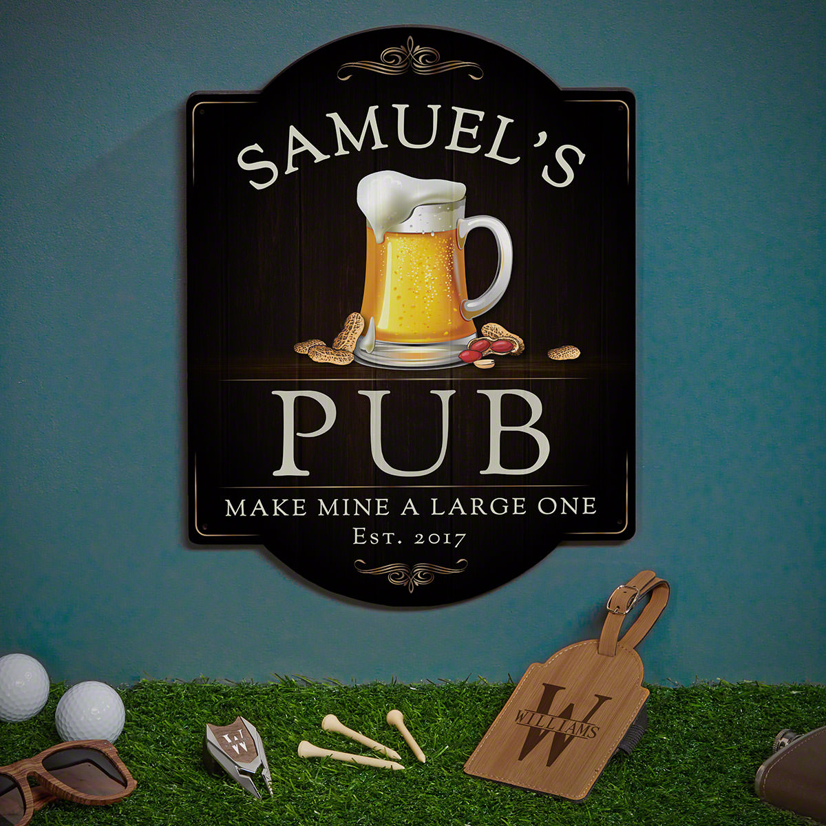 Beer & Nuts Sign and Oakmont Custom Golf Gifts
