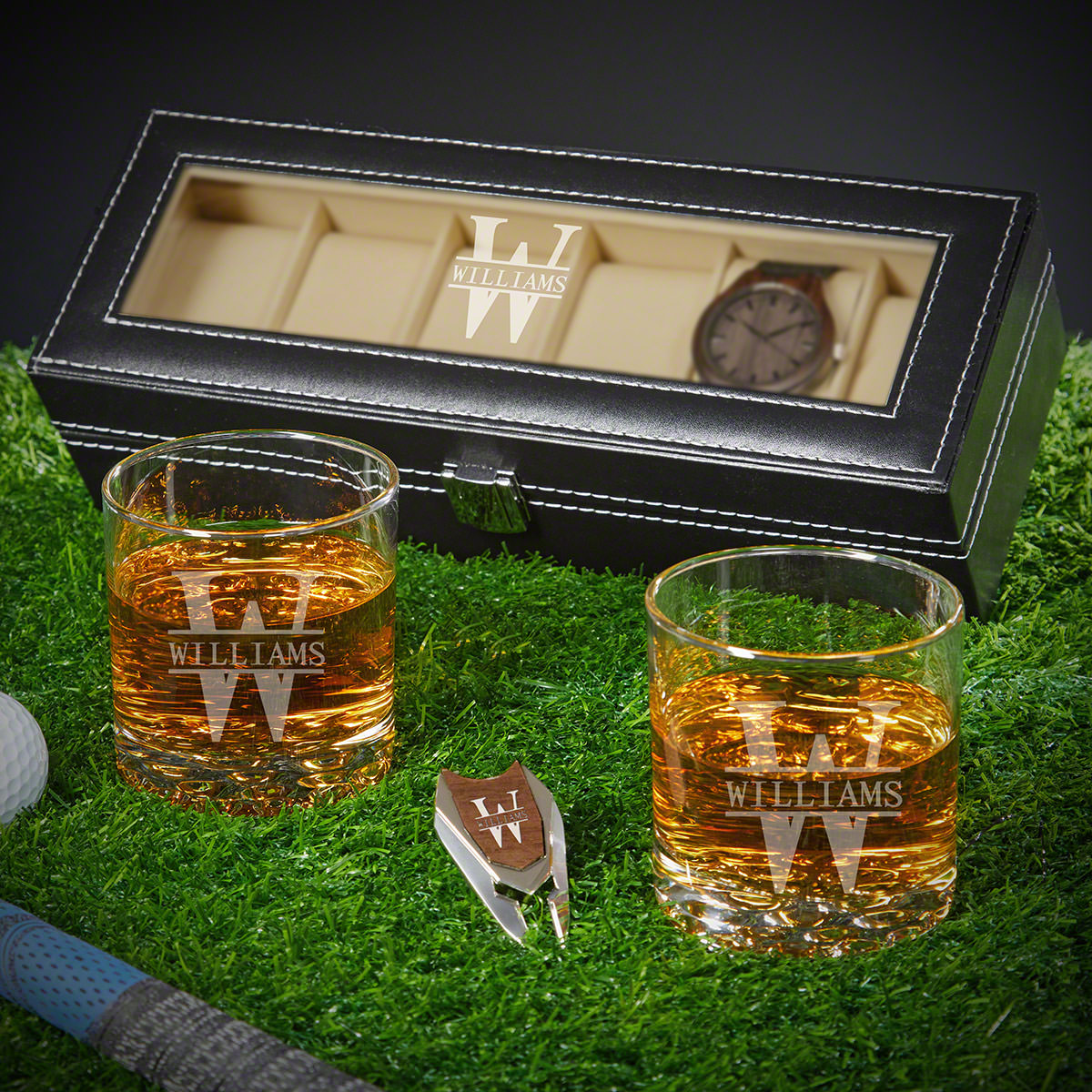 Oakmont Personalized Golf and Whiskey Best Man Gifts