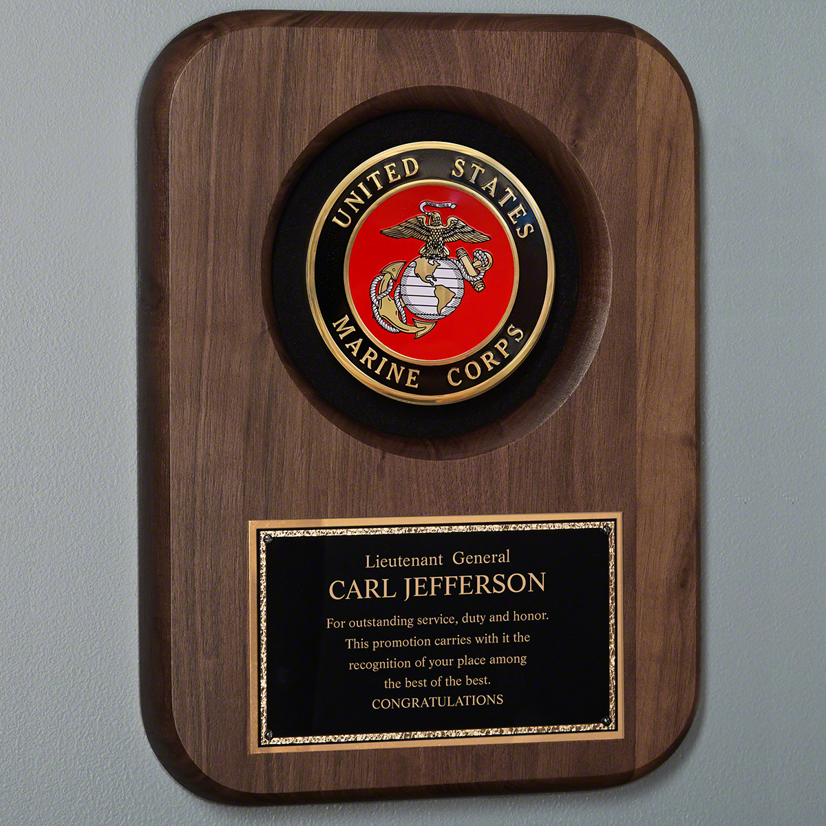 Marine Personalized Plaque for Promotion