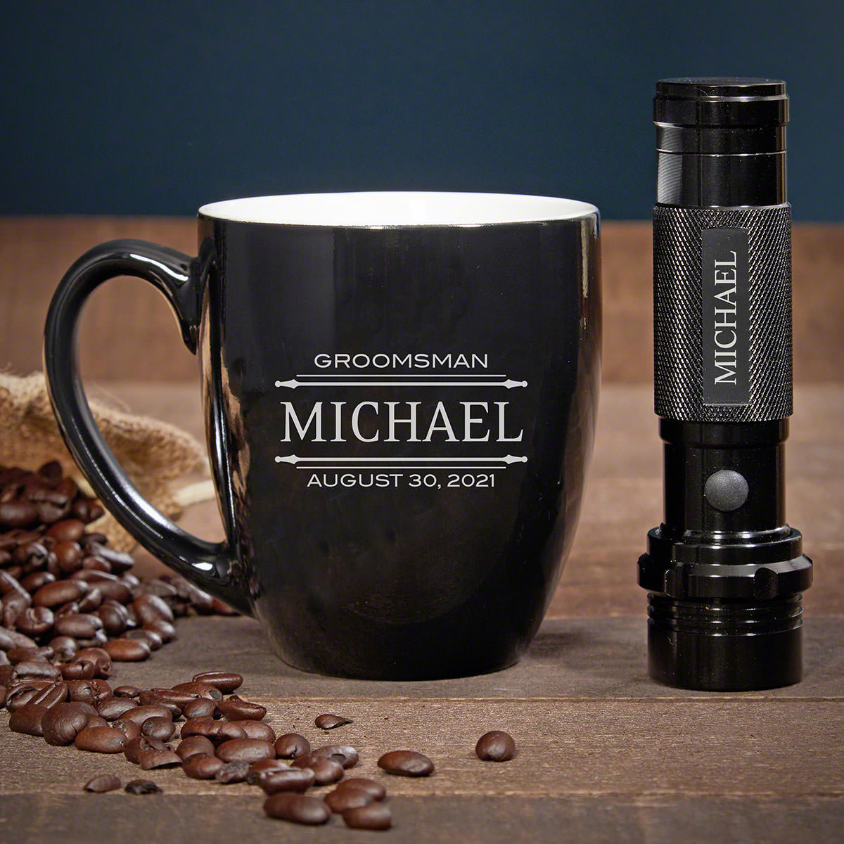 Stanford Engraved Coffee Gift Set with Flashlight