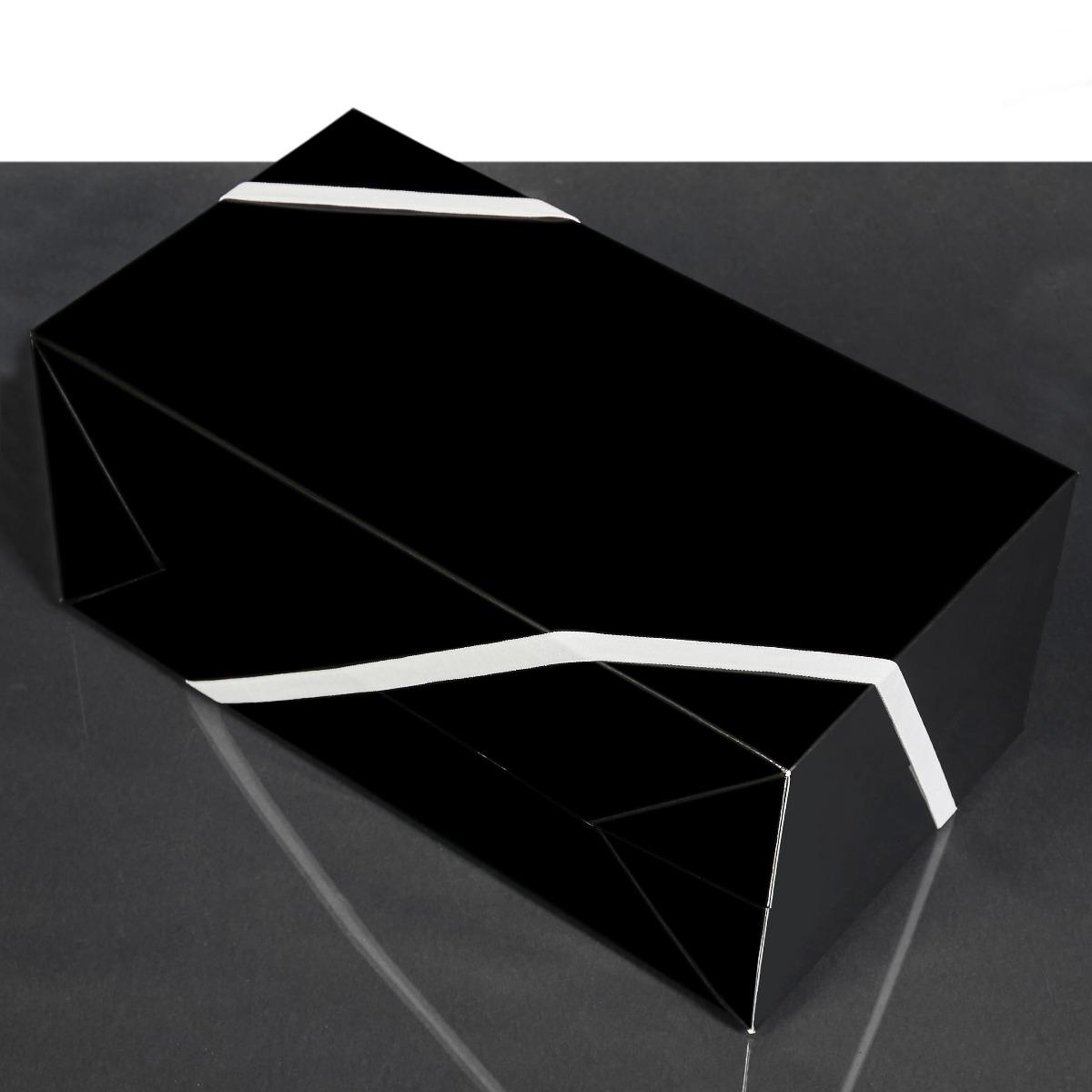 Do-It-Yourself Medium Glossy Black Gift Box Add-On