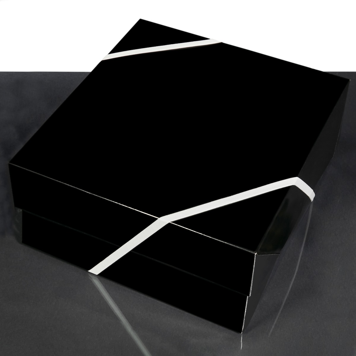 Do-It-Yourself Large Glossy Black Gift Box Add-On