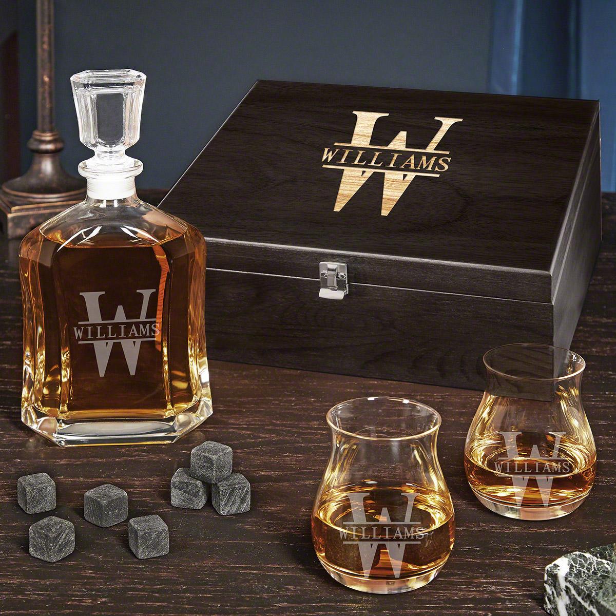 Oakmont Personalized Whiskey Decanter Set