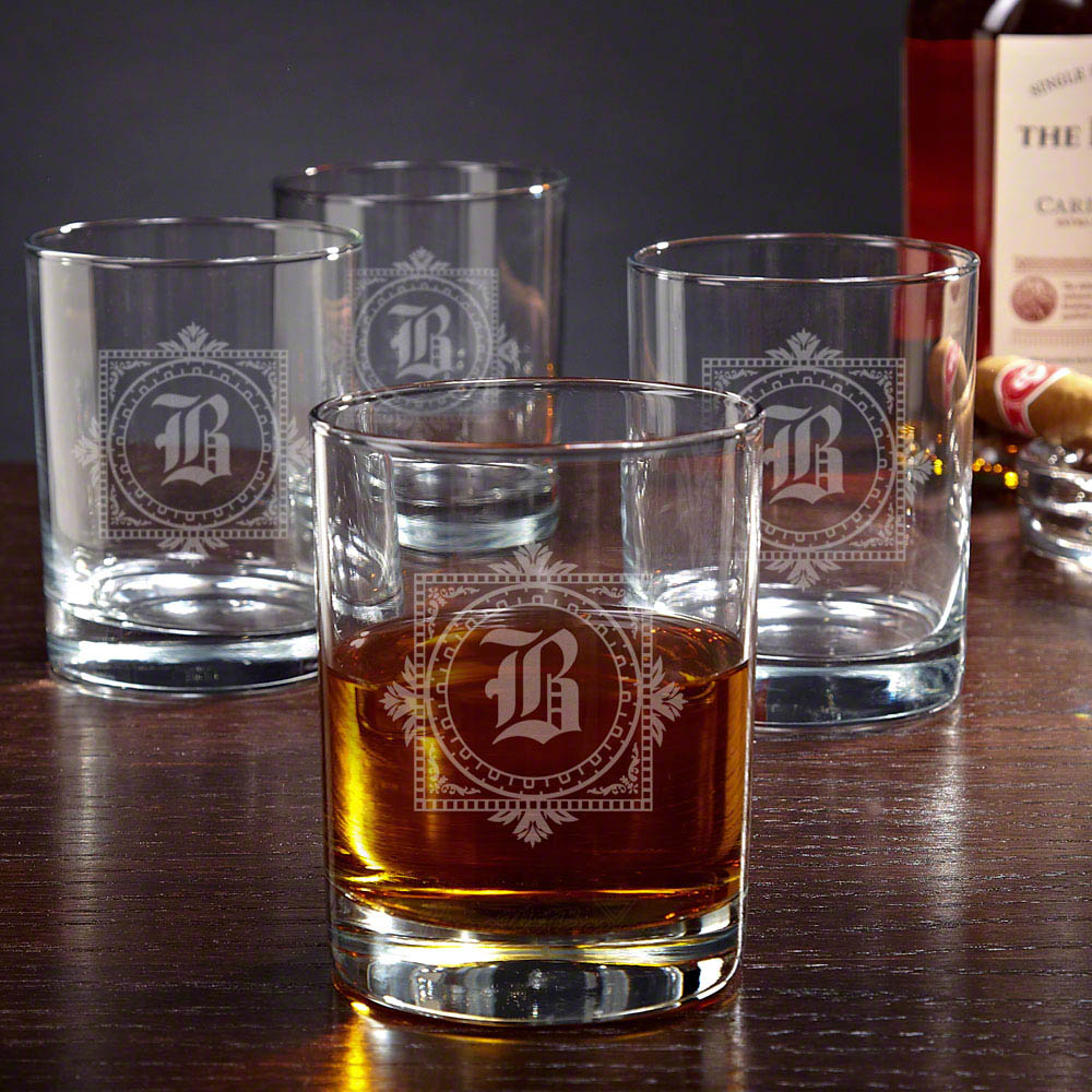 winchester personalized whiskey glasses set of 4. Black Bedroom Furniture Sets. Home Design Ideas