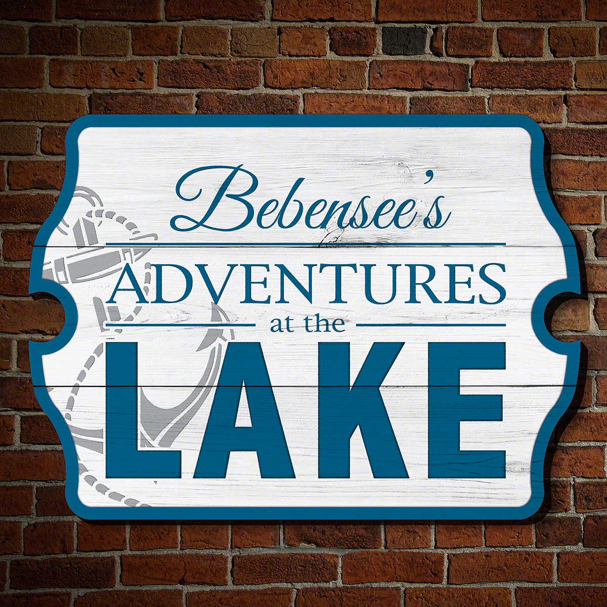 Adventures at the Lake Personalized Wooden Sign