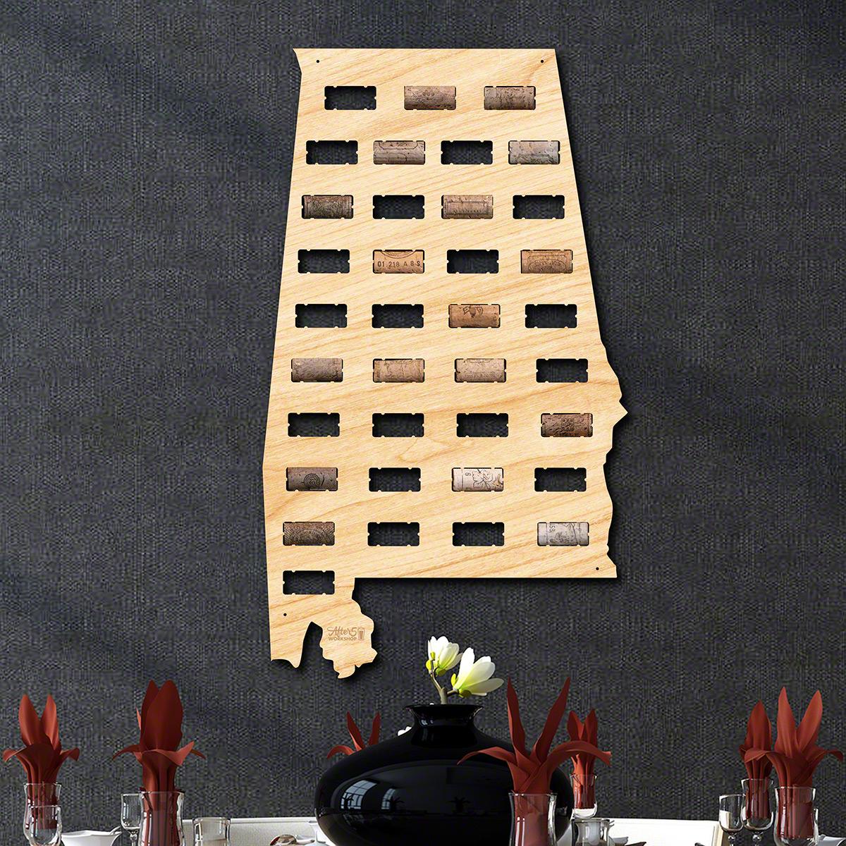 Alabama-Wine-Cork-Map