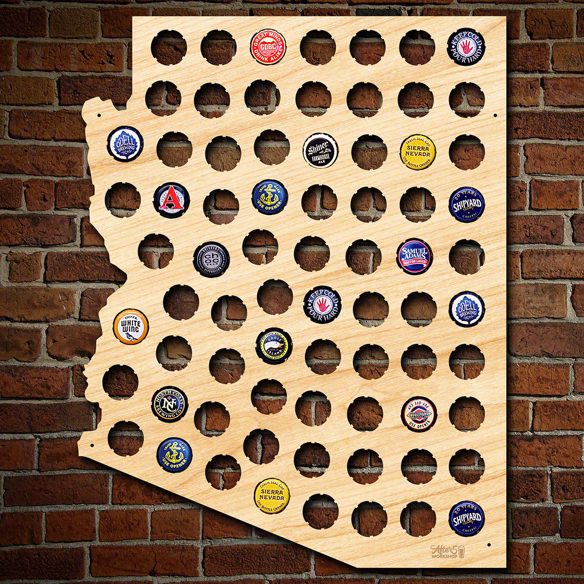 Arizona Beer Cap Map