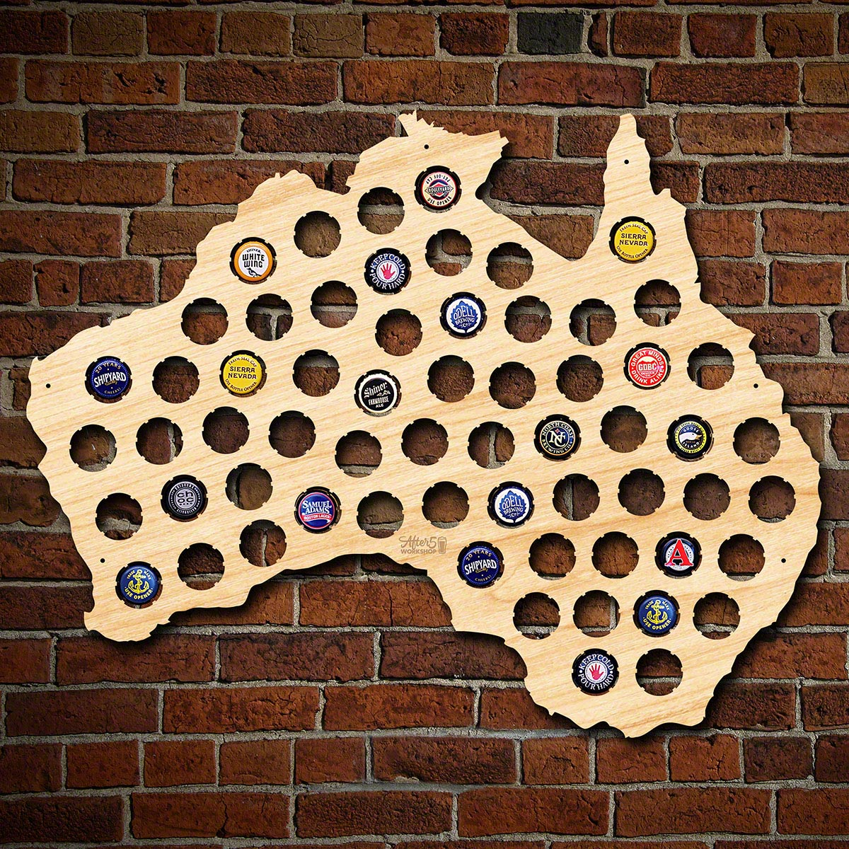 Australia-Beer-Cap-Map