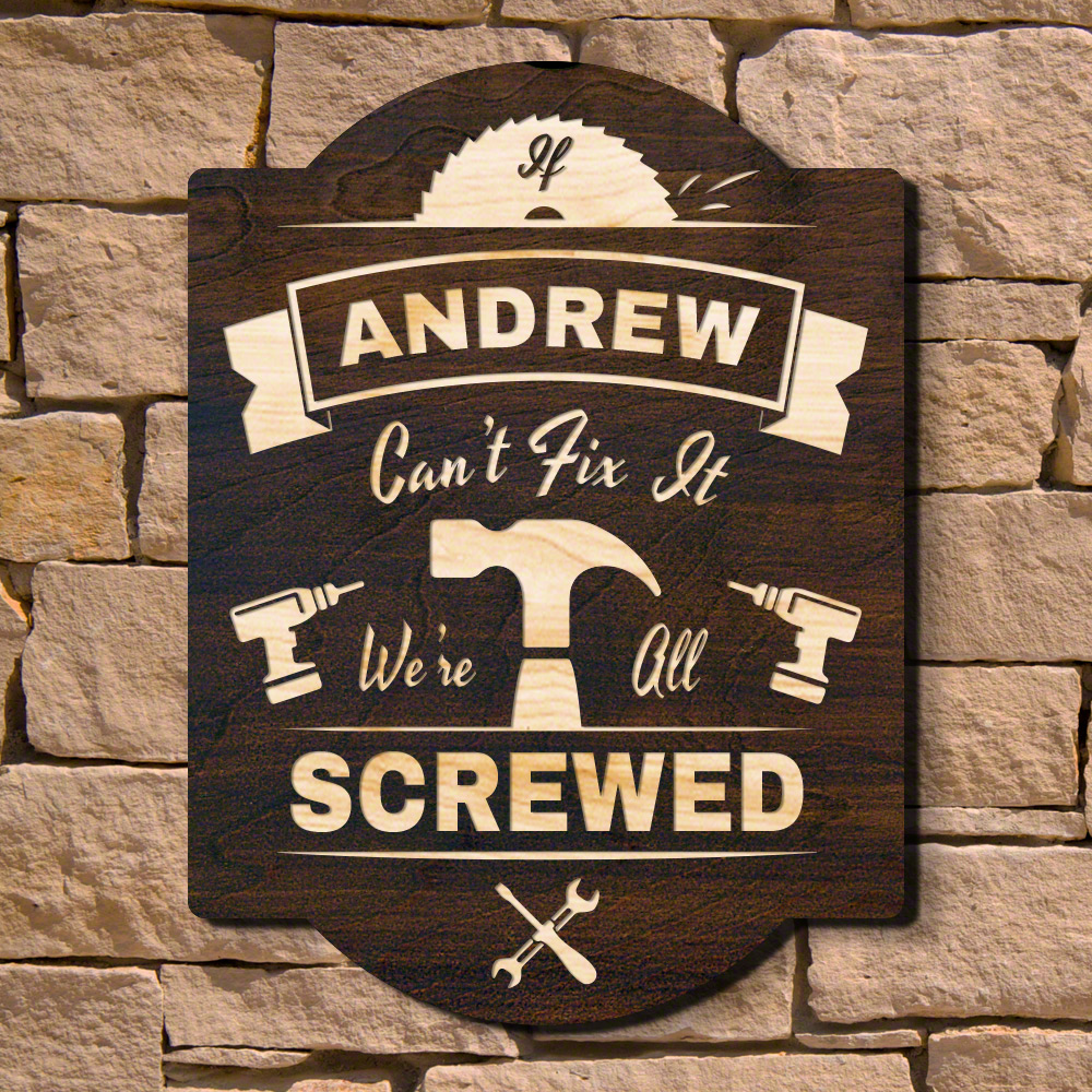 knuckle busted counter stool bar signs shop carguy sign cave man garage personalized workbench