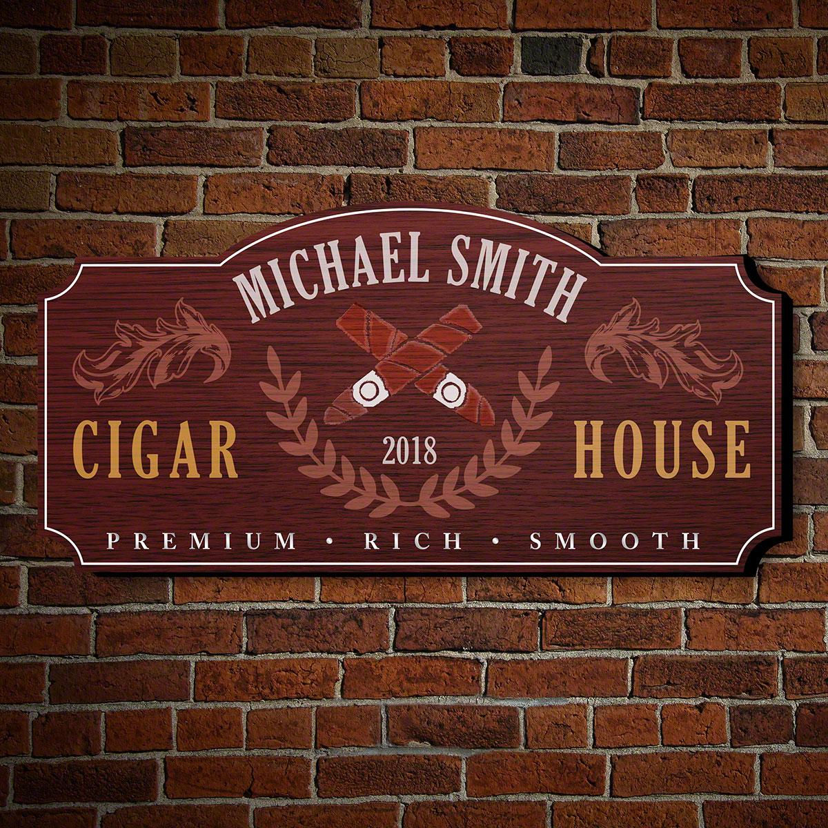 Famous Smoke Personalized Wall Decor Sign