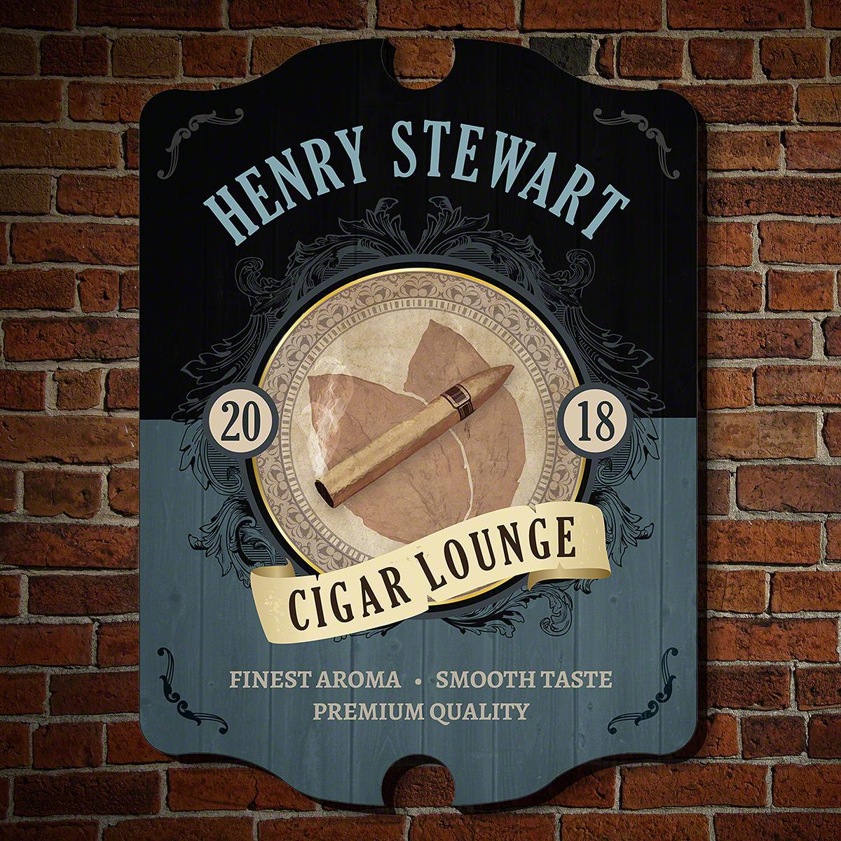New Leaf Custom Cigar Lounge Sign