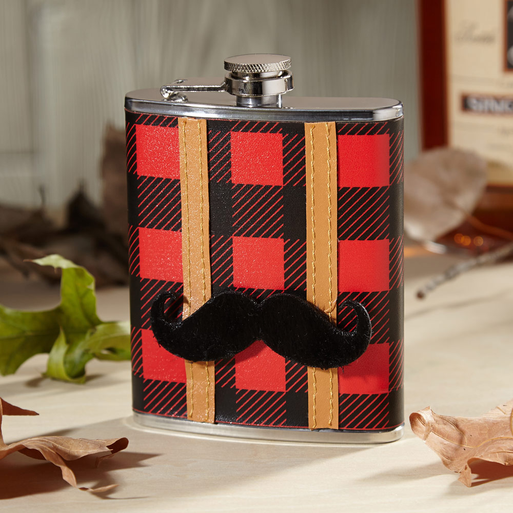 Mustache You Flannel Hip Flask