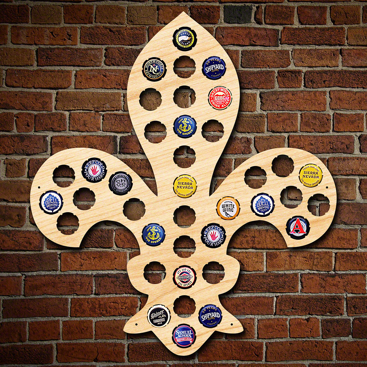 Fleur de Lis Beer Bottle Cap Holder