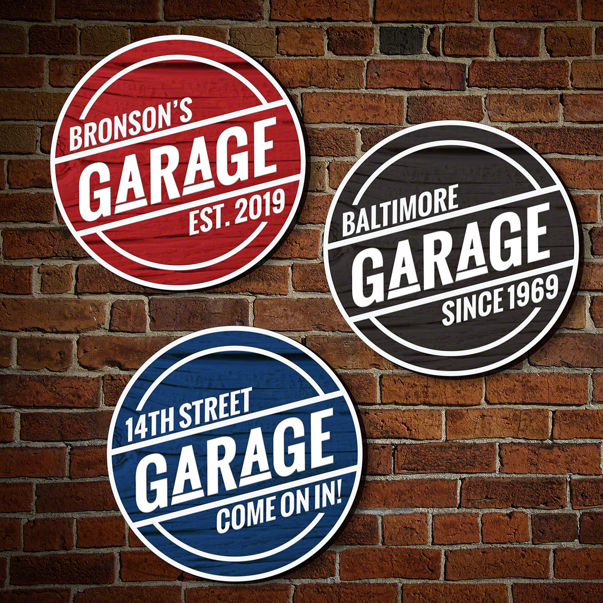 garage signs pub clock vintage blackacedesign obc personalized click home image man featured plank and to sign custom personalize at cave com