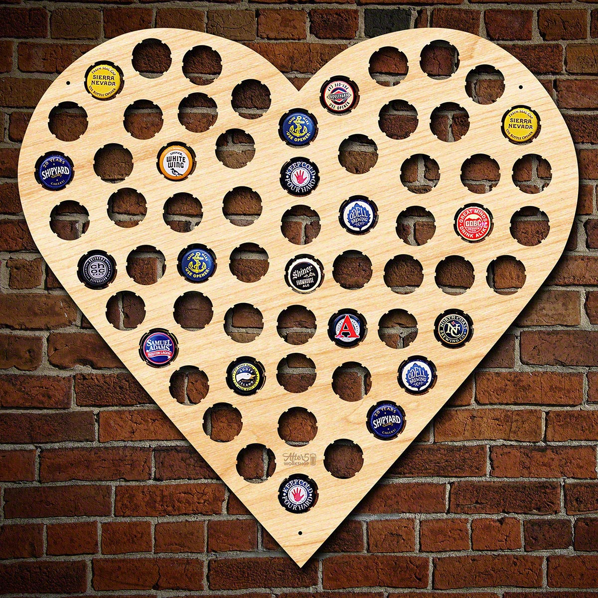 I Heart Beer Bottle Cap Holder