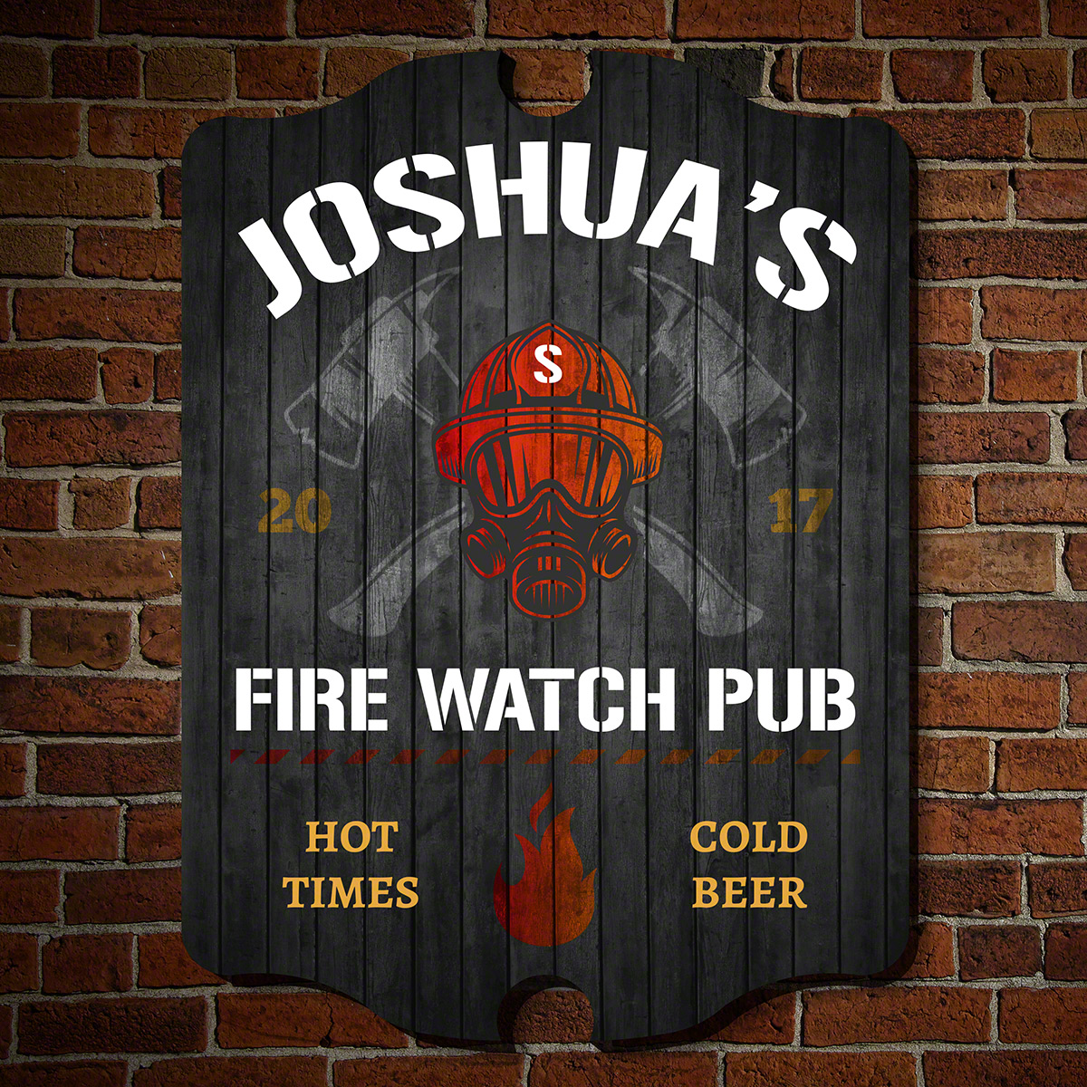 Hot Times Fire Watch Custom Pub Sign