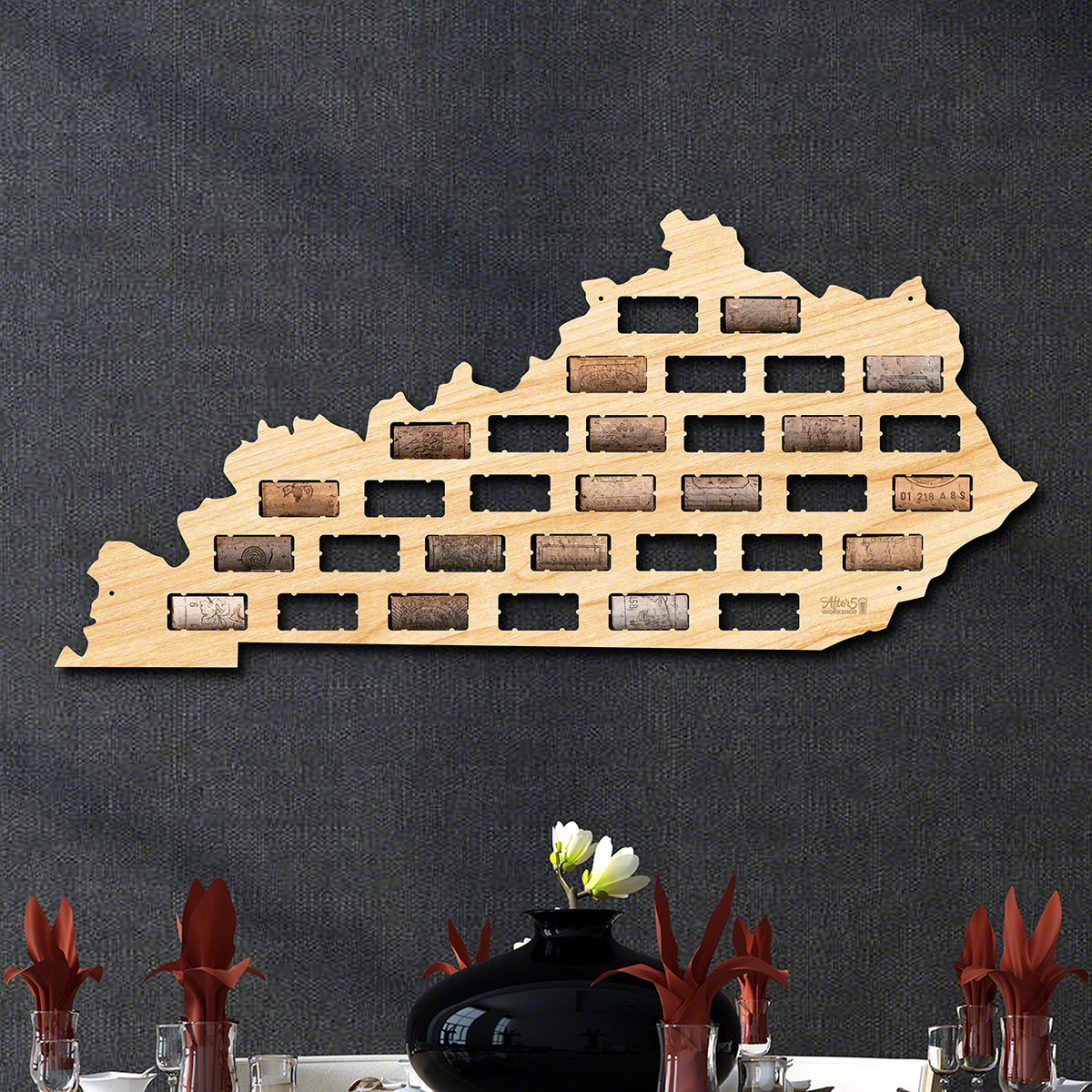 Kentucky Wine Cork Map