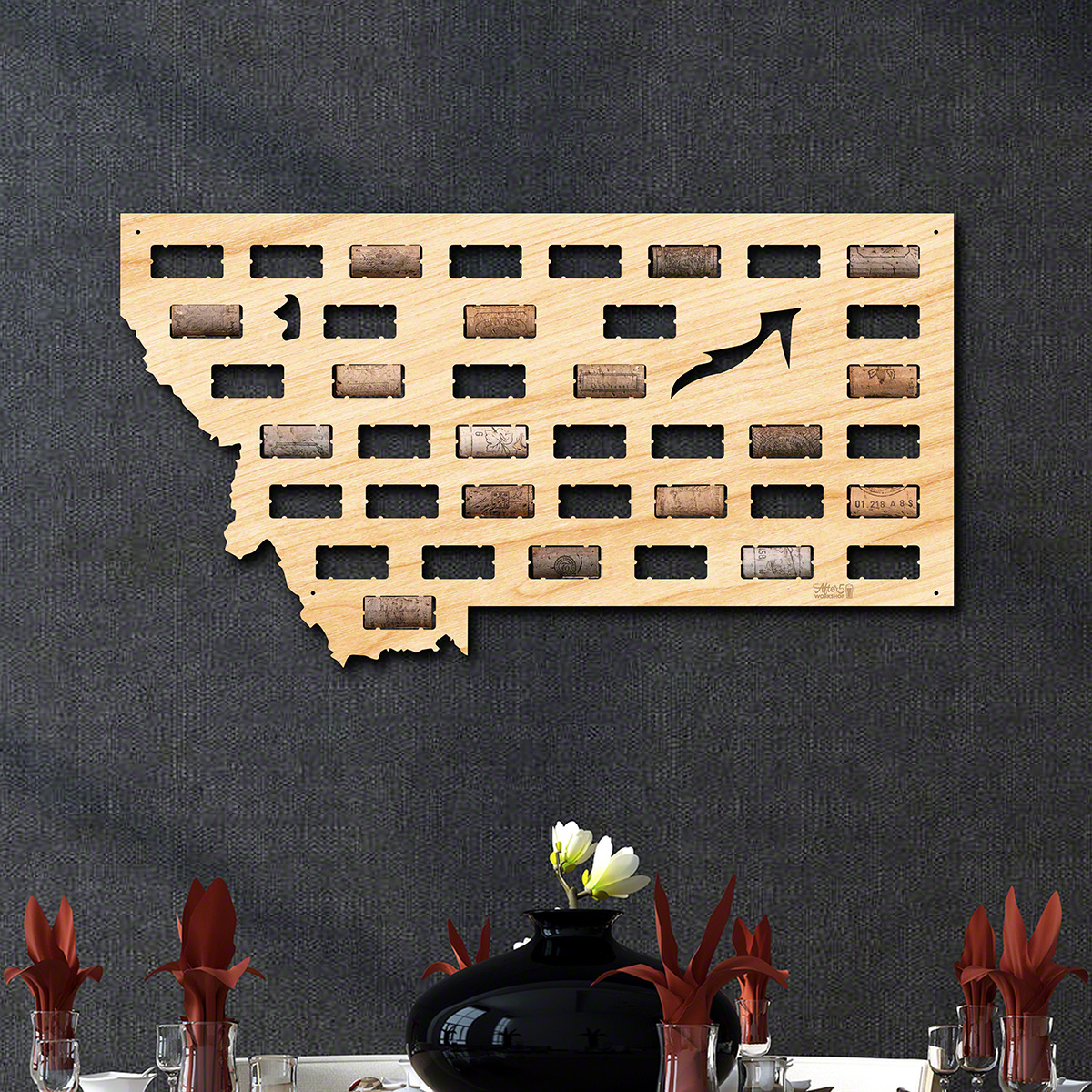 Montana Wine Cork Map