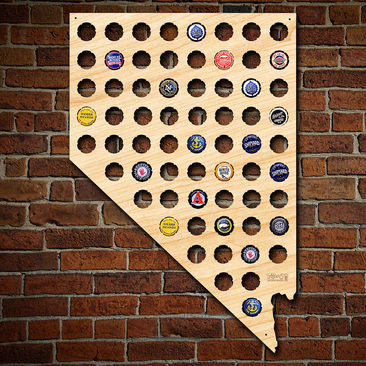 Nevada Beer Cap Map