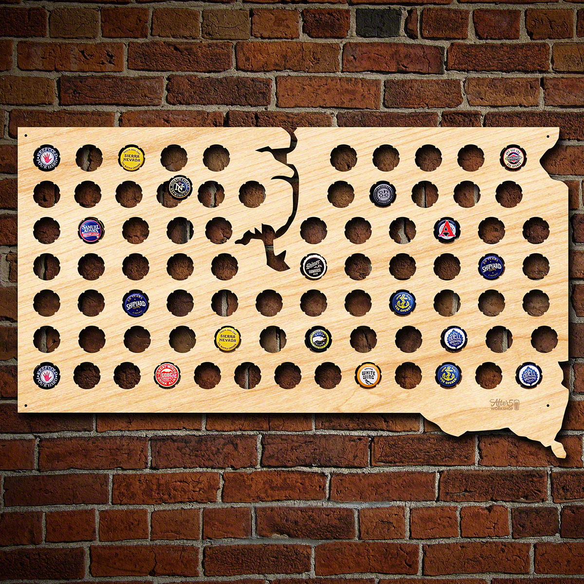 South-Dakota-Beer-Cap-Map