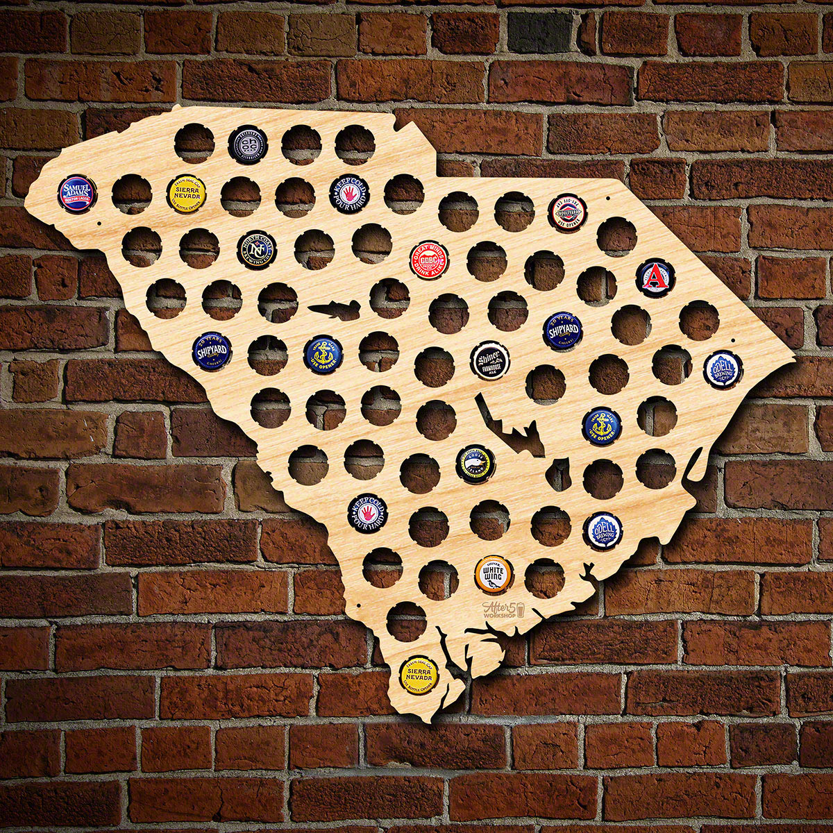South Carolina Beer Cap Map