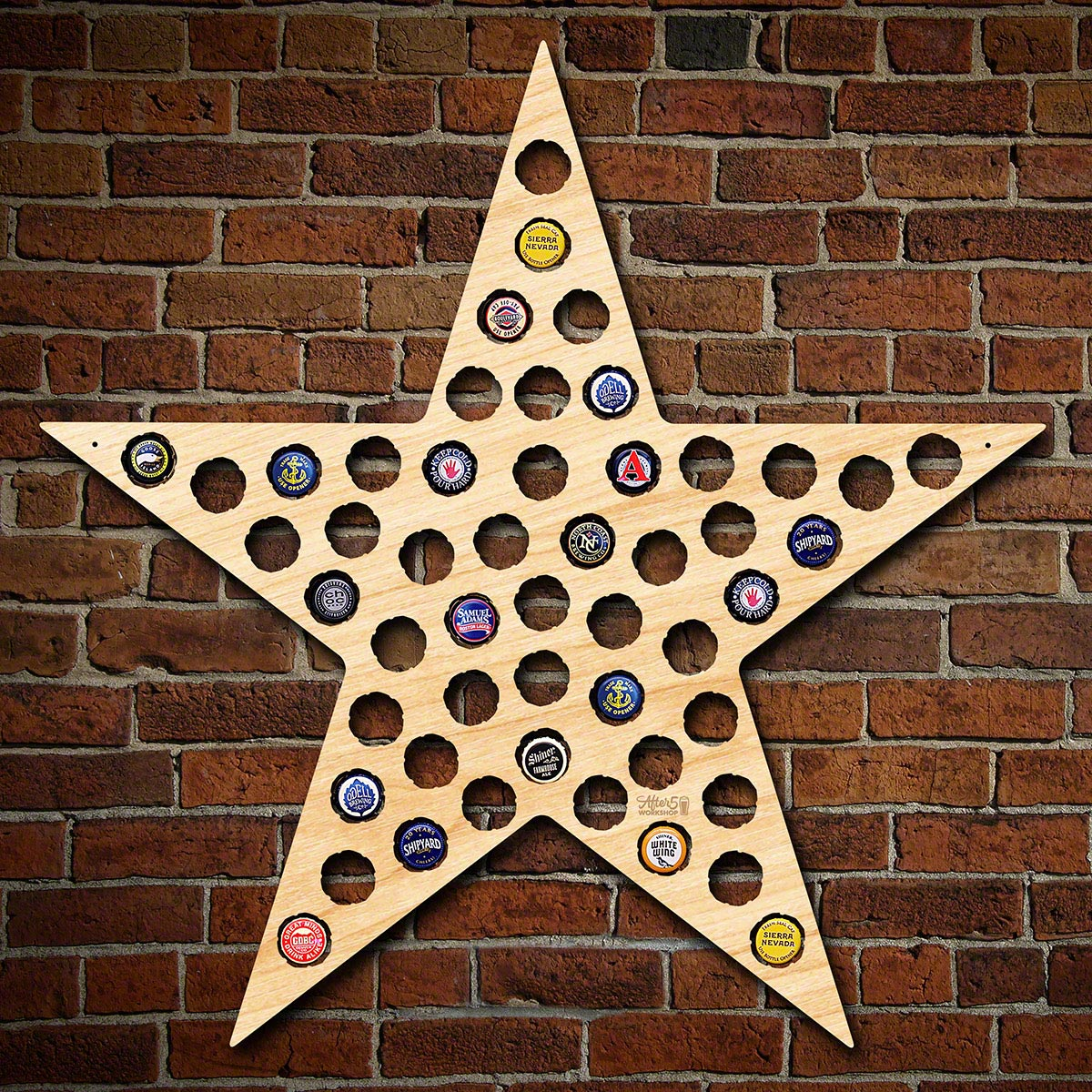 Five-Point-Texas-Star-Bottle-Cap-Holder