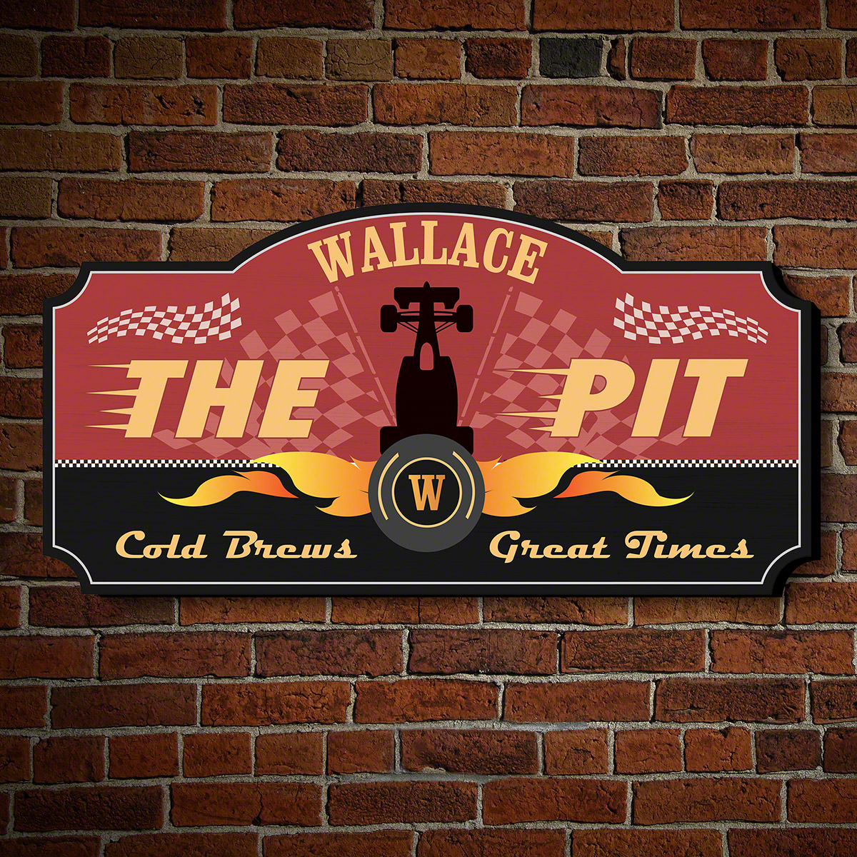 The Pit Personalized Bar Sign