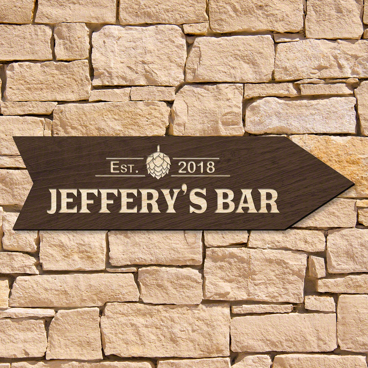 Hops This Way Personalized Bar Sign (Signature Series)