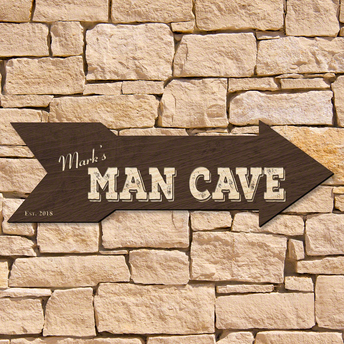 This Way to the Man Cave Custom Sign (Signature Series)