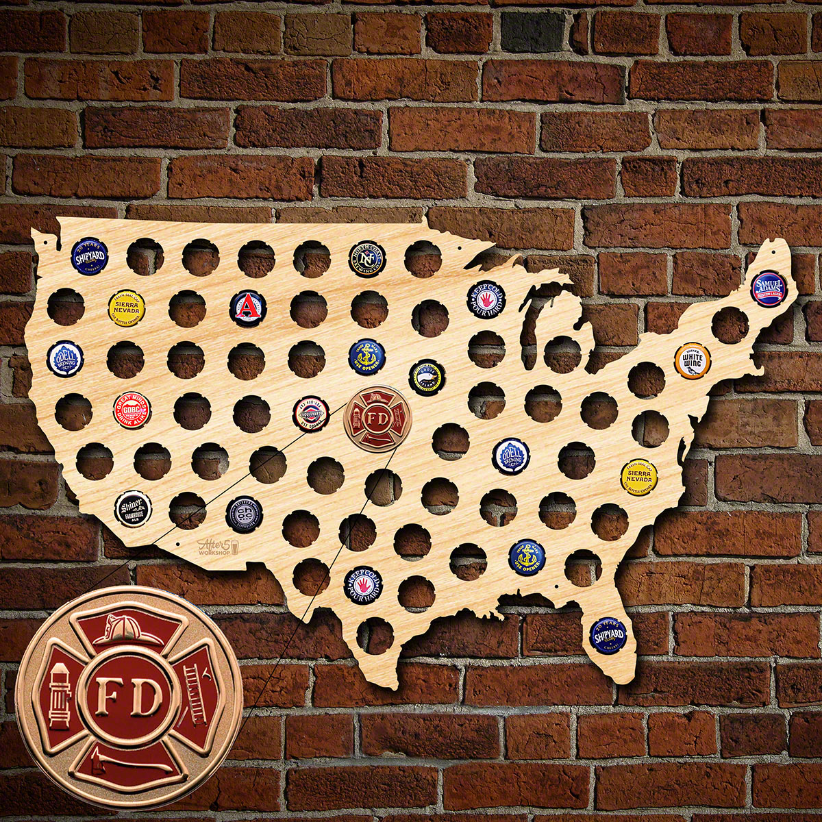Fire-Rescue-Beer-Cap-Map-of-America