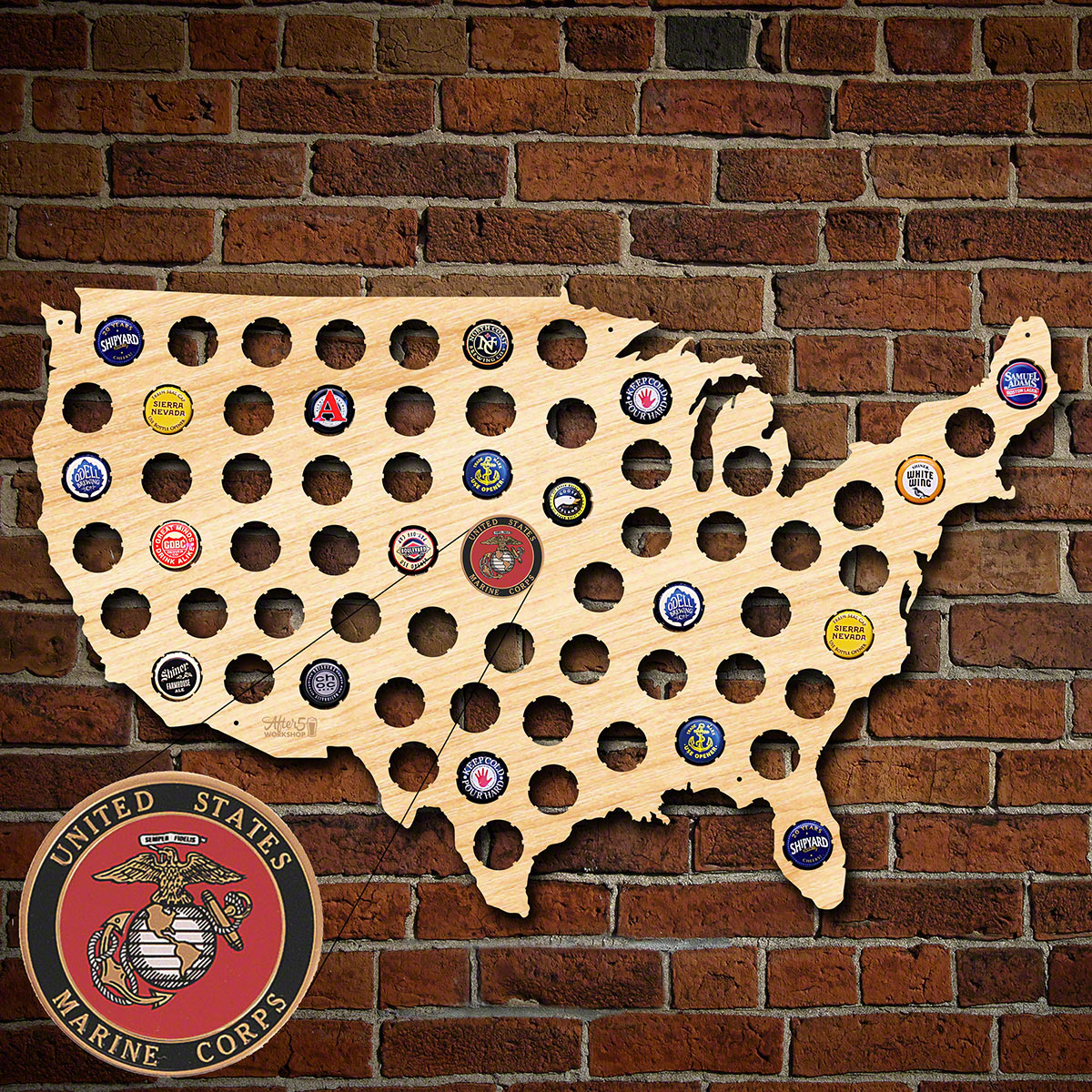 US-Marine-Corp-Beer-Cap-Map-of-America