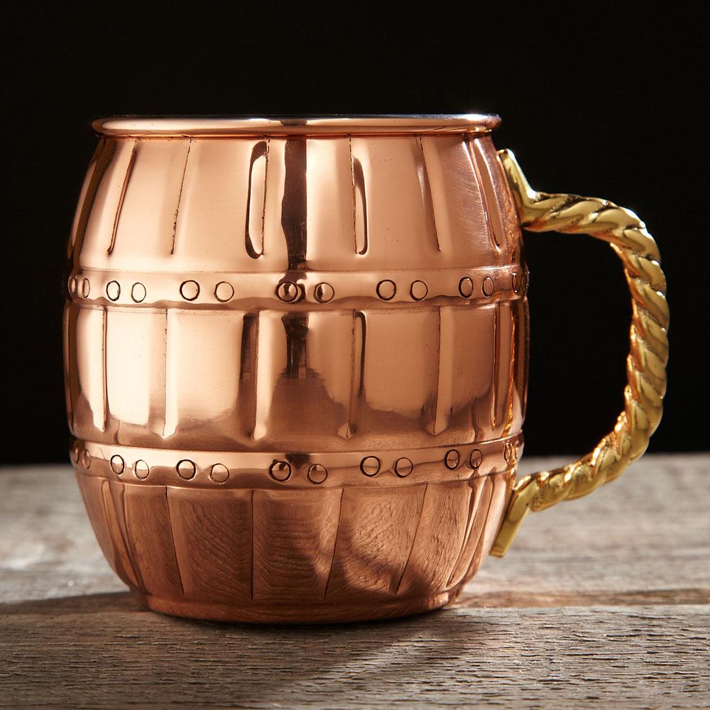 Copper Barrel Mug, 16 oz