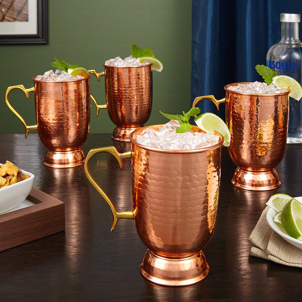 Lenox Hammered Copper Mugs, Set of 4