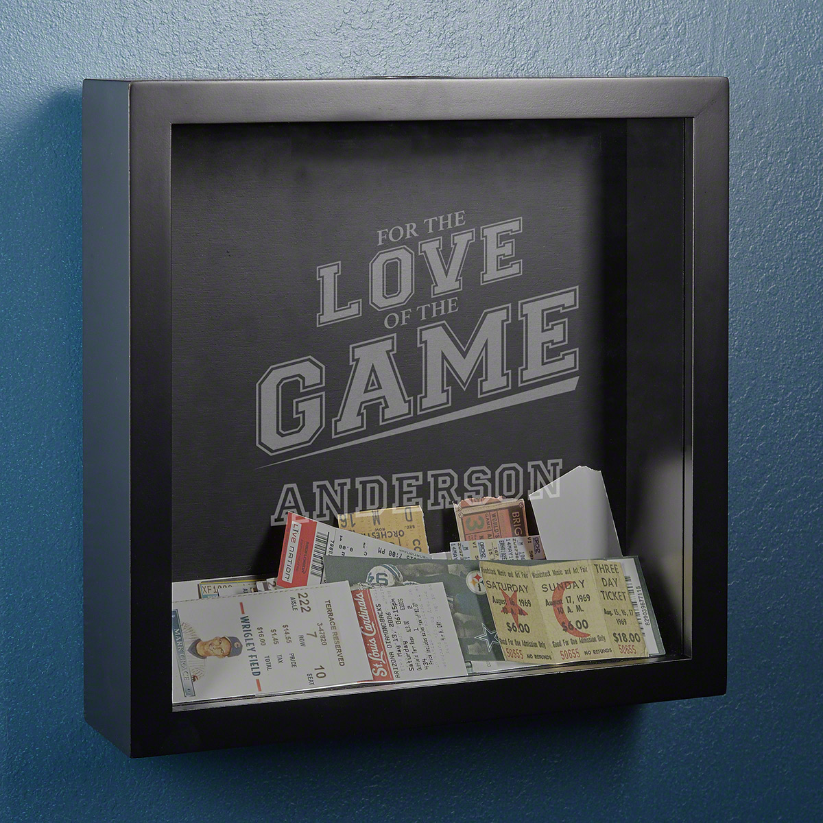 Love of the Game Personalized Ticket Stub Shadow Box
