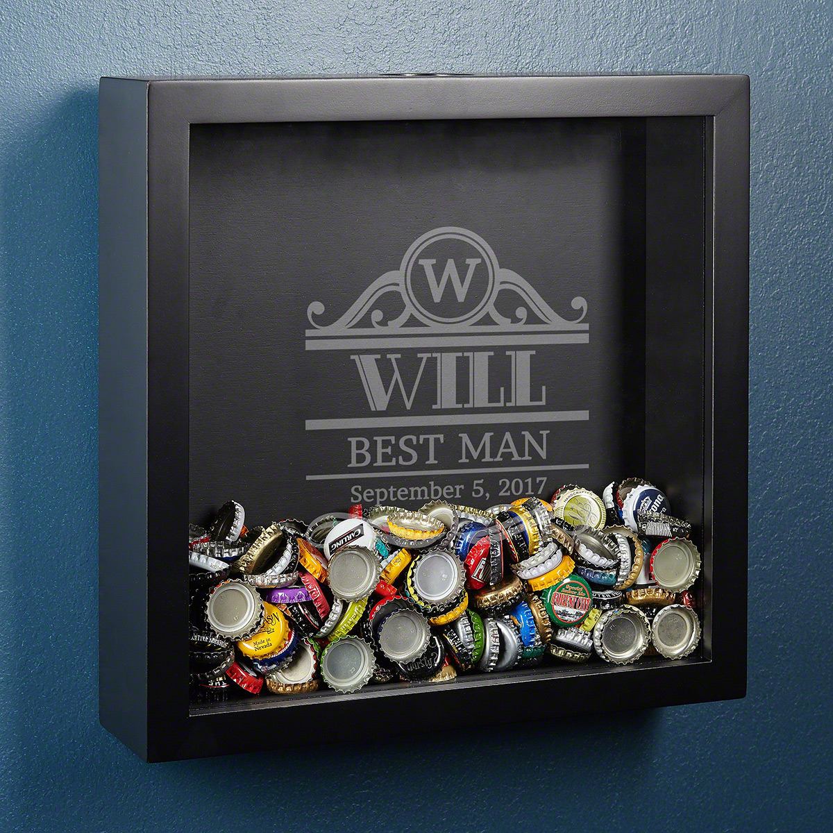 Rockefeller-Personalized-Beer-Cap-Shadow-Box