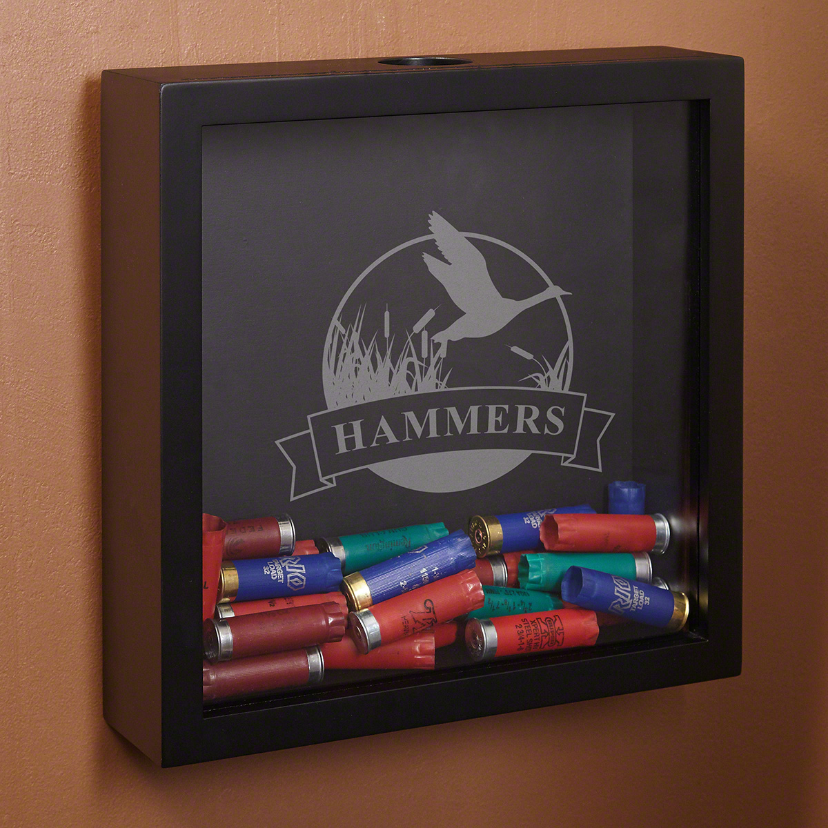 Lucky-Duck-Hunters-Personalized-Shotgun-Shell-Display-Case