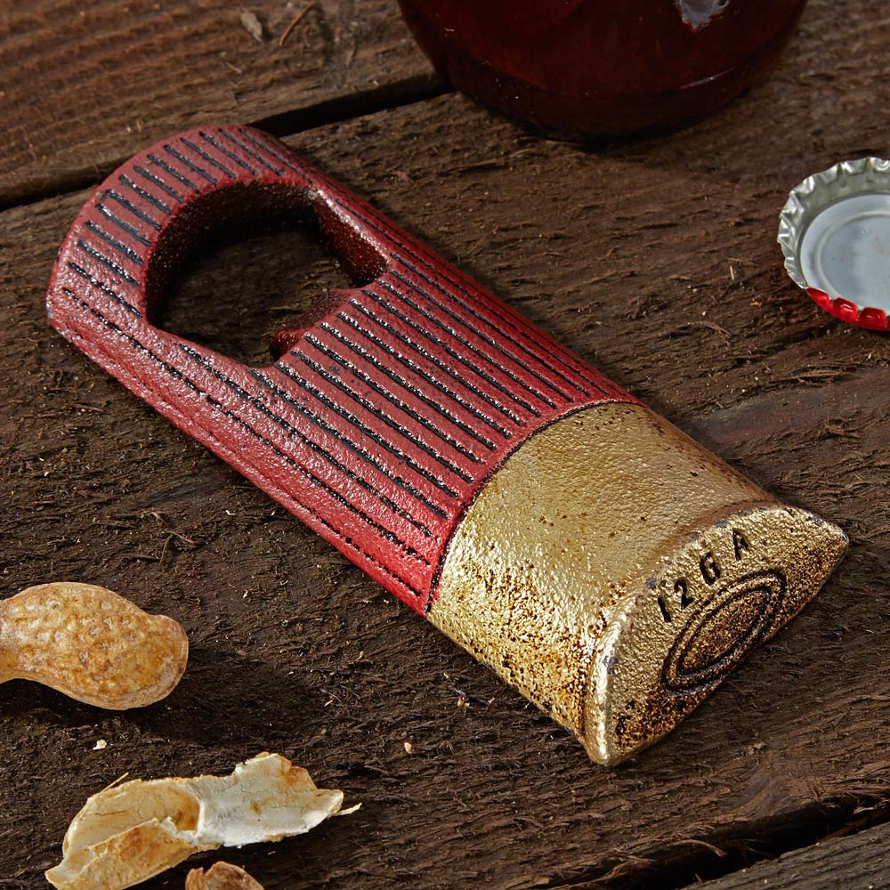 Shotgun Shell Cast Iron Bottle Opener