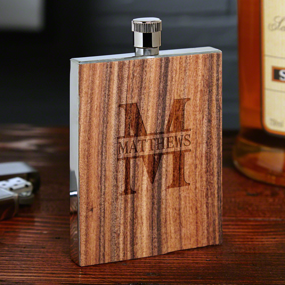 Oakmont Rosewood Personalized Flask