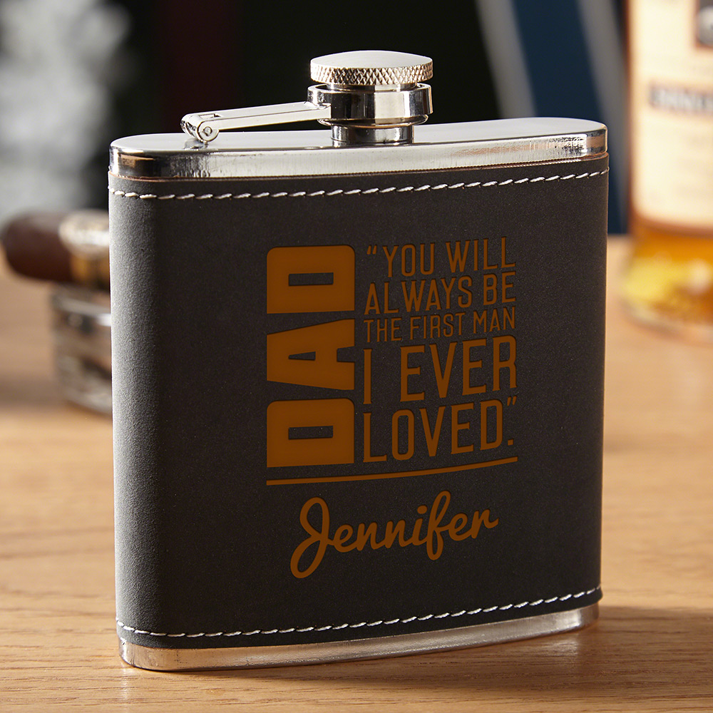 To Dad From Daughter Gift - Personalized Hip Flask