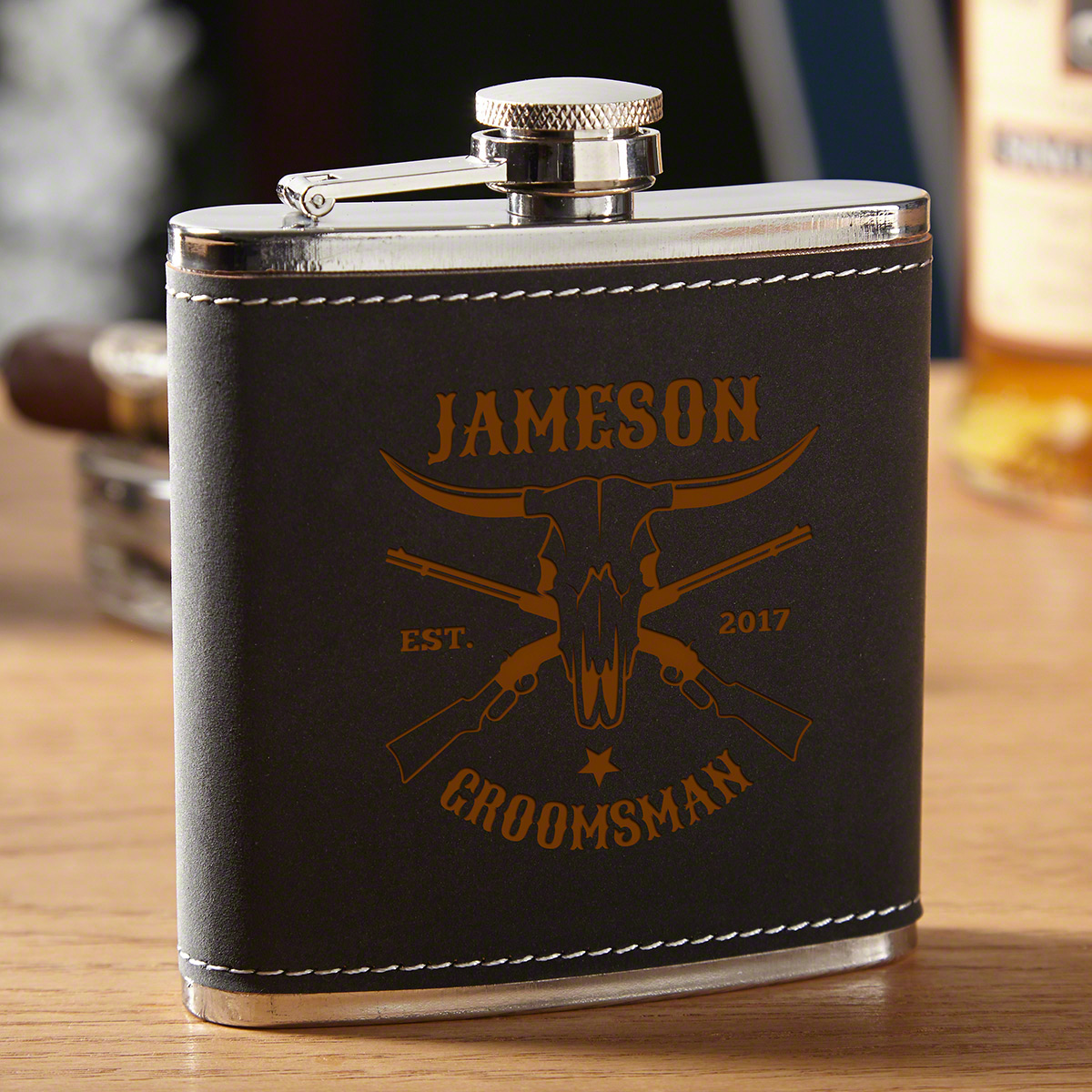 Midland Personalized Western Flask