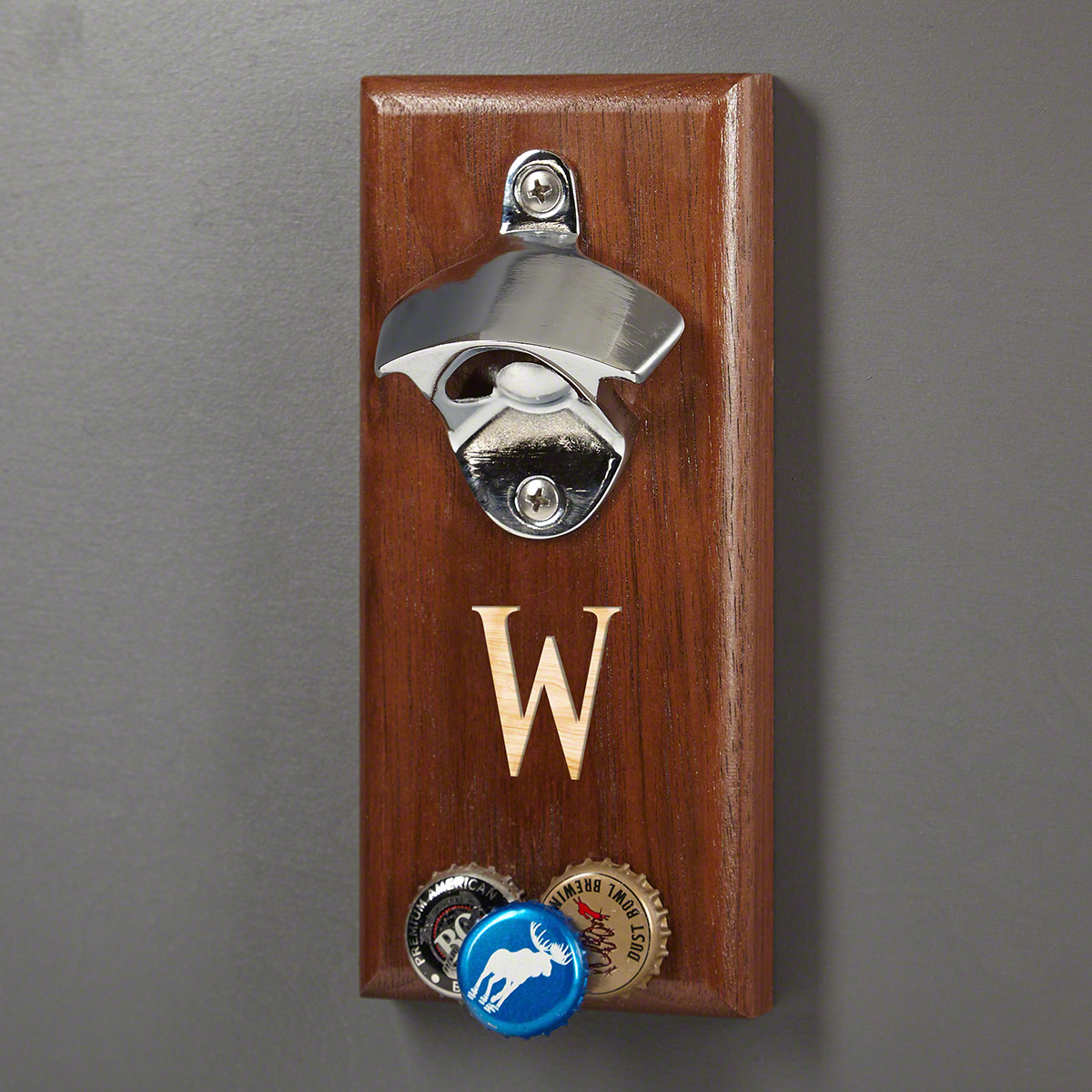 Baxter Magnetic Bottle Opener with Cap Catcher (Engravable)