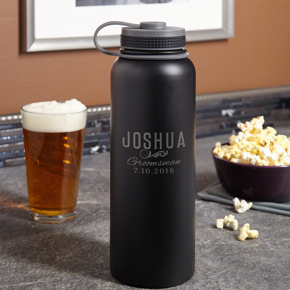 Classic Groomsman Gift Insulated Custom Growler 40 oz