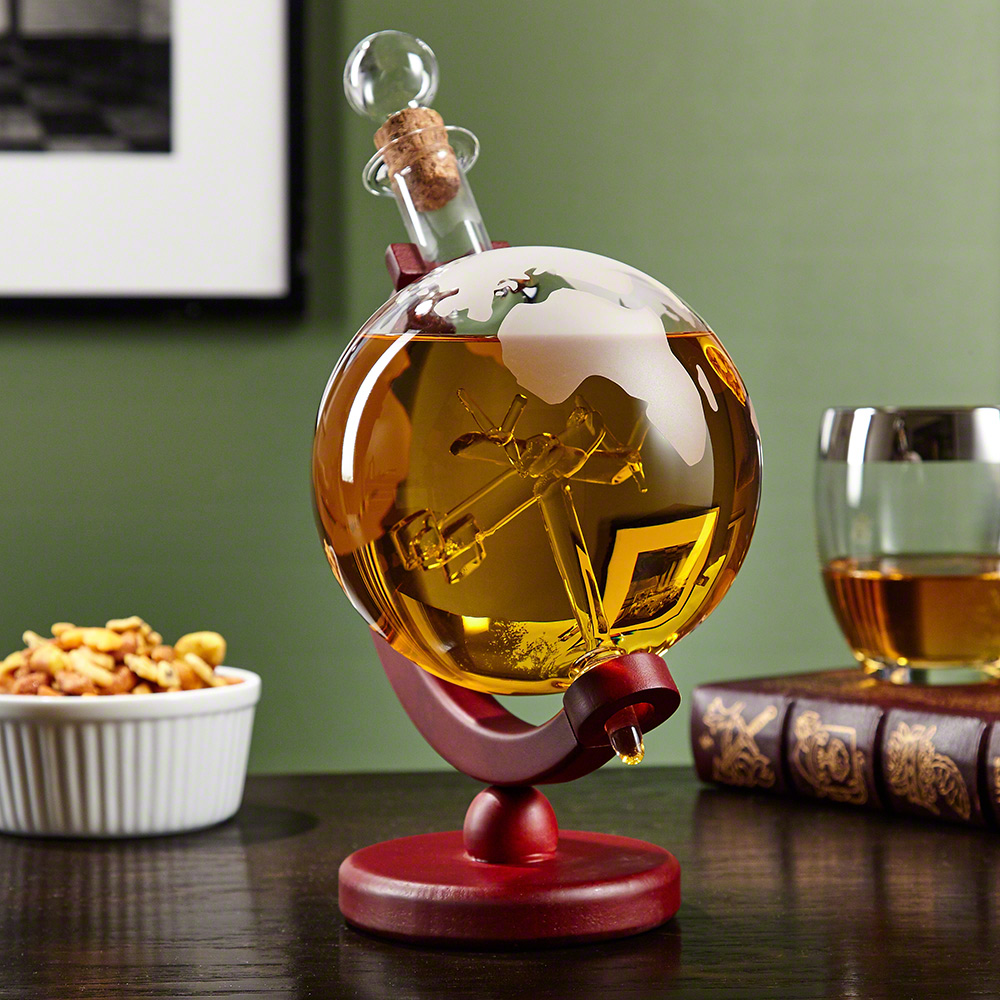 Lindbergh P-51 Mustang Globe Decanter for Liquor