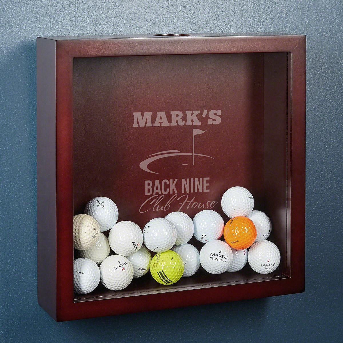 Back Nine Club House Personalized Golf Shadow Box