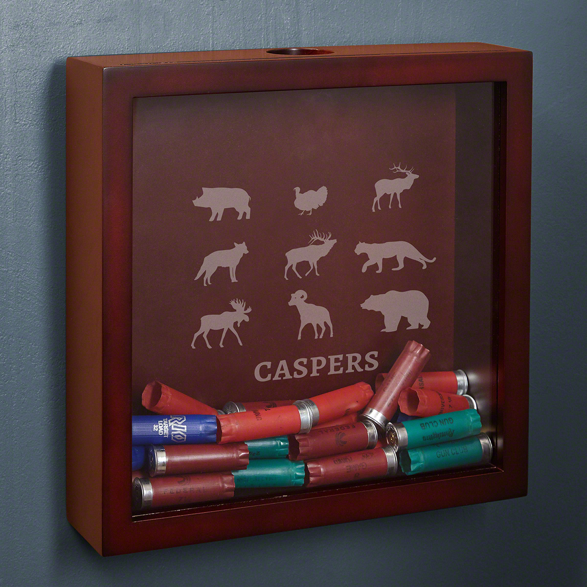 Boone Personalized Shotgun Shell Shadow Box Cabin Decor for Hunters