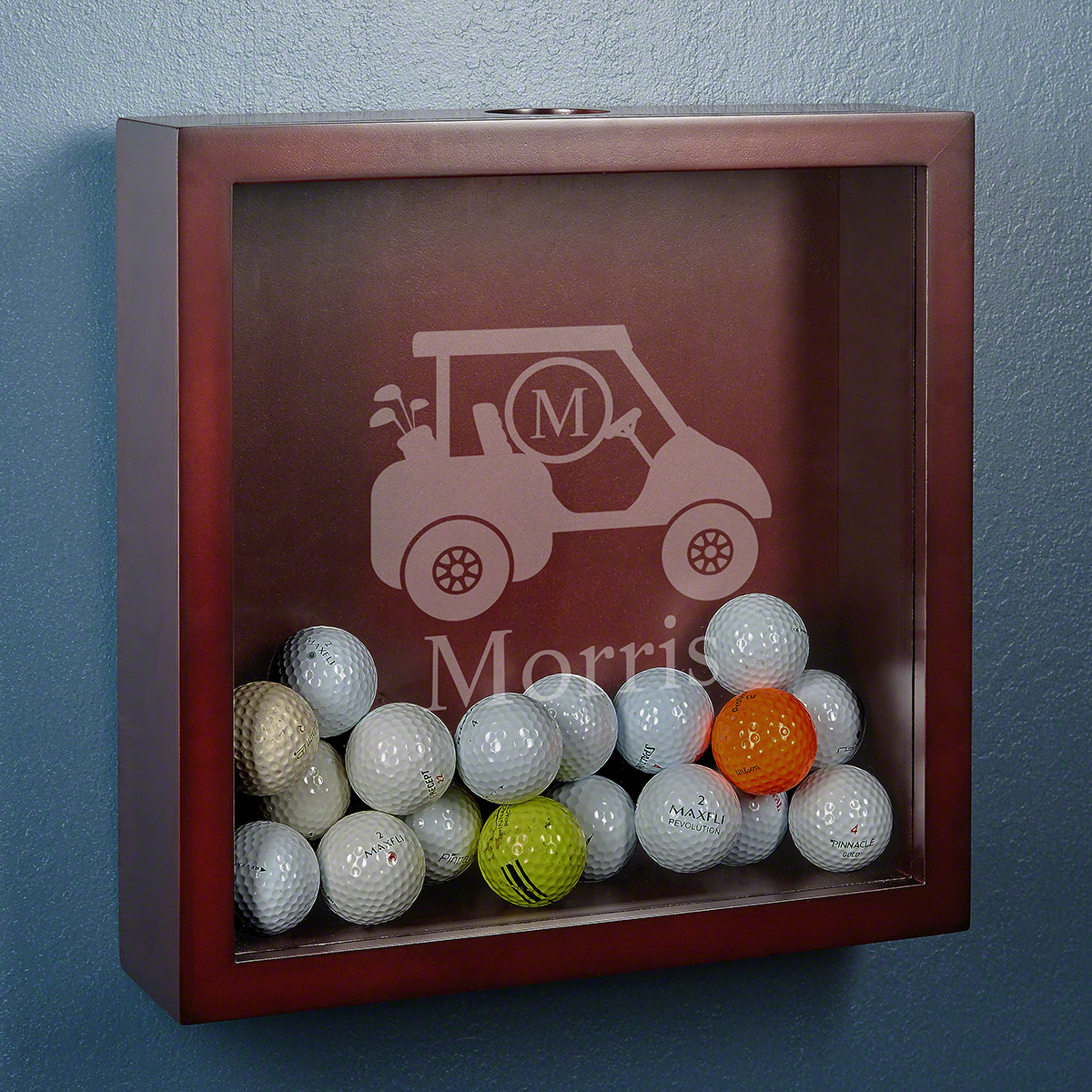 Personalized-Golf-Cart-Shadow-Box-Display