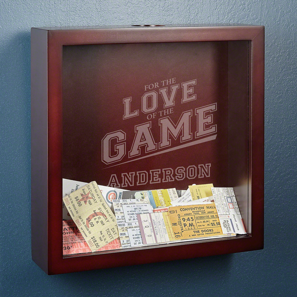 For the Love of the Game Custom Shadow Box for Sports Lovers