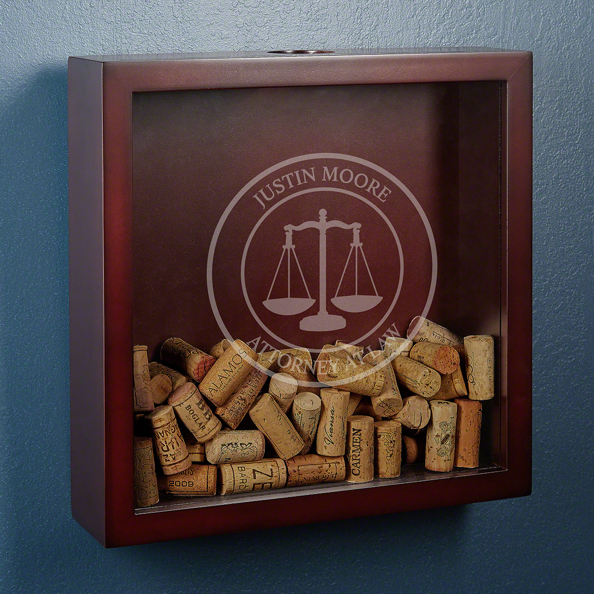 Scales of Justice Personalized Shadow Box for Lawyers